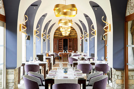 dining at Eagles Palace hotel