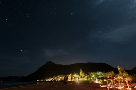 elephant mountain by night at six senses con dao hotel vietnam