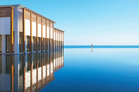 Endless sea view lagoons at Amirandes Crete