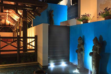 Entrance Yoga Pavillion at shanti som hotel spain