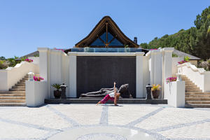 Entrance hotel at shanti som hotel spain