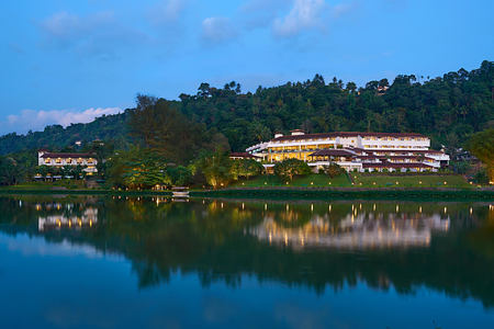 exterior dusk at cinnamon citadel kandy hotel sri lanka