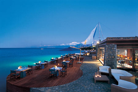 restaurant at elounda bay palace hotel greece