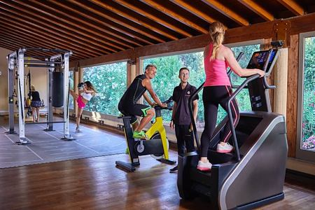 gym at Forte Village Bourganville Italy