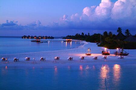 night beach at coco palm dhuni kolhu resort maldives