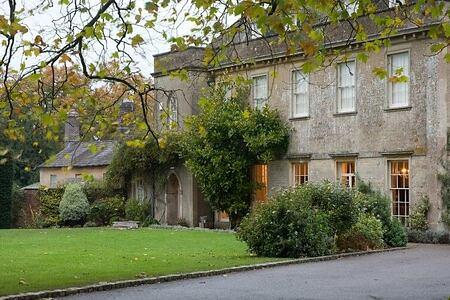 Facade of babington house somerset uk