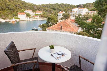 Family room balcony at Hotel Odisej Croatia