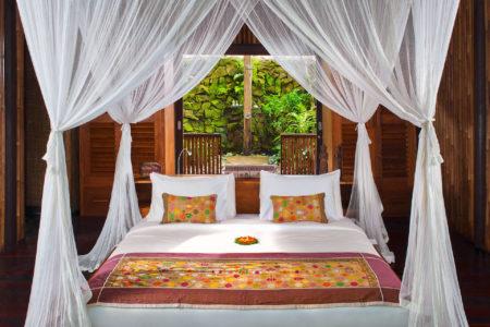 bedroom at fivelements retreat bali