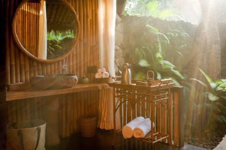 bathroom at fivelements retreat bali