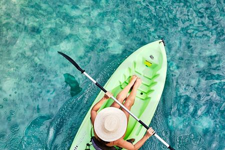 kayaking at goldeneye hotel jamaica caribbean