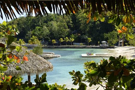 beach view at goldeneye hotel jamaica caribbean