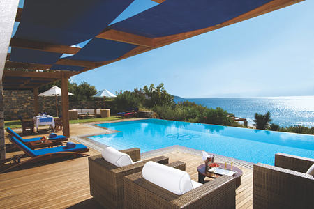 GRAND SUITE FRONT SEA VIEW PRIVATE HEATED POOL - Exterior at elounda bay palace hotel greece