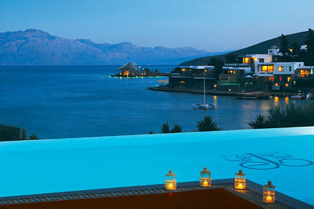 GRAND SUITE FRONT SEA VIEW PRIVATE HEATED POOL - OUTDOOR VIEW at elounda bay palace hotel greece