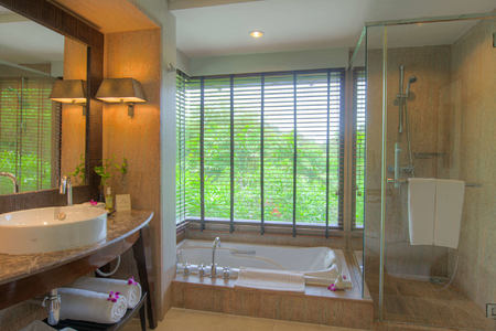 Garden Pavilion bathroom at layana resort and spa thailand