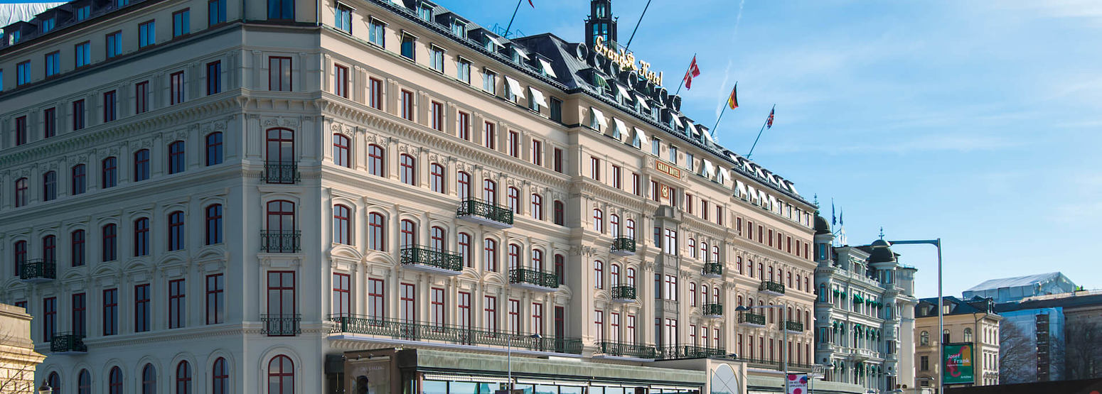 exterior of grand hotel sweden