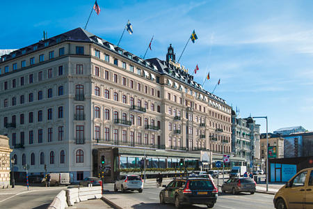 exterior of grand hotel sweden