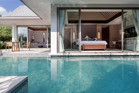 Grand Reserve Pool Villa pool at santiburi beach resort and spa