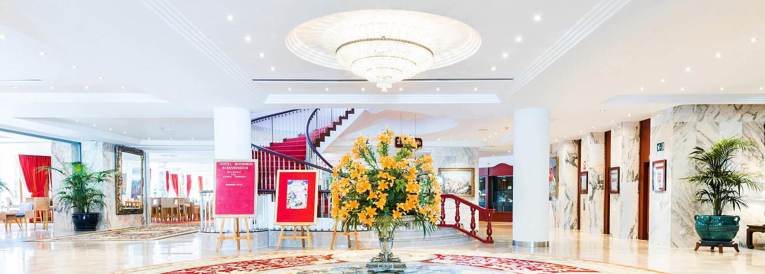 Hall at hotel botanico tenerife