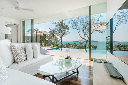 two bedroom pool villas living area at point yamu by como hotel thailand