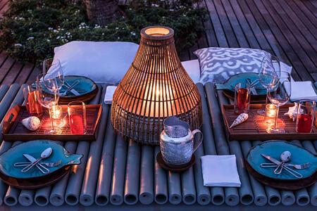 como beach club table decoration at point yamu by como hotel thailand