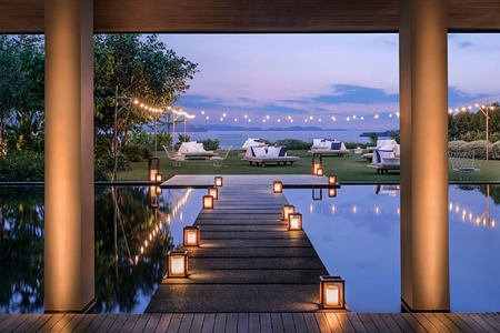 sunset lawn reception at point yamu by como hotel thailand
