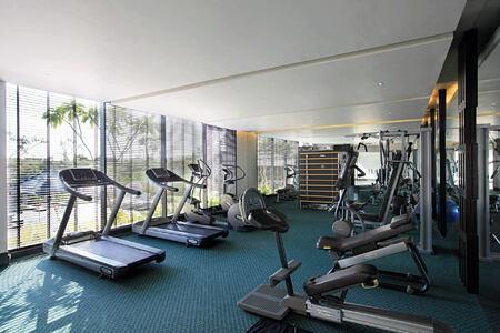 gym at banyan tree ungasan bali