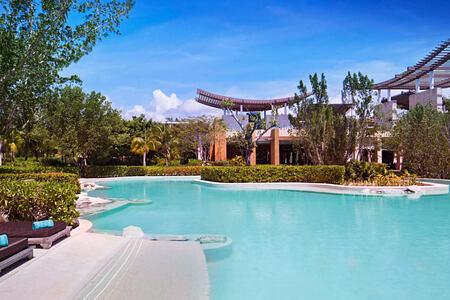 pool at banyan tree mayakoba resort mexico
