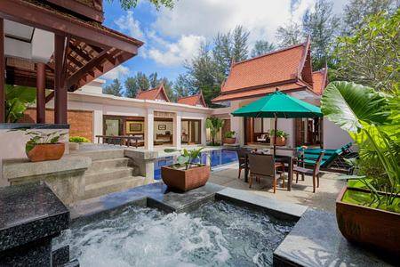 guest room signature pool at banyan tree hotel phuket
