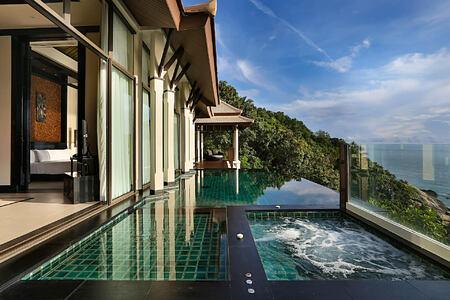 guest room ocean view at banyan tree samui thaialand
