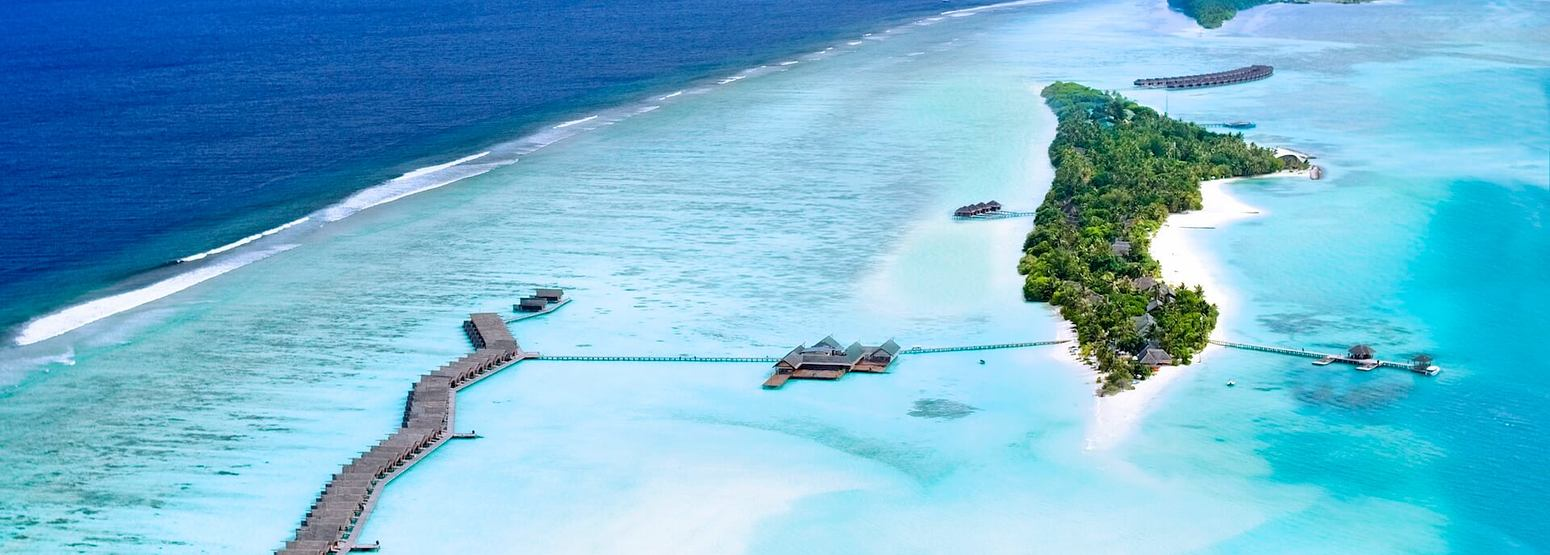 aerial view of lux maldives resort