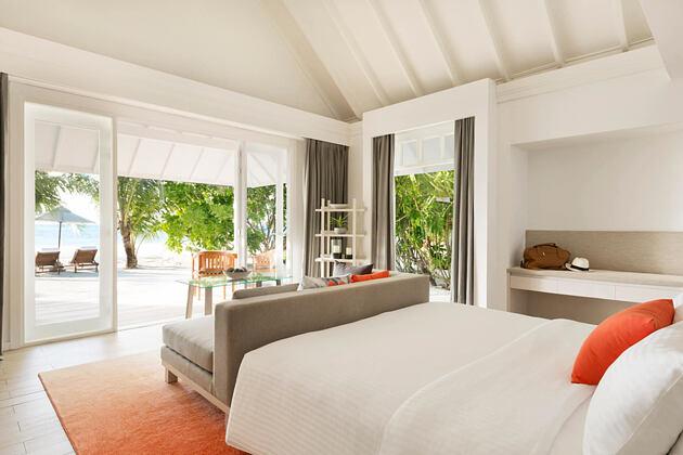 beach pool villa at lux maldives resort