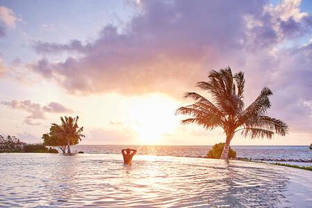 pool at lux maldives resort