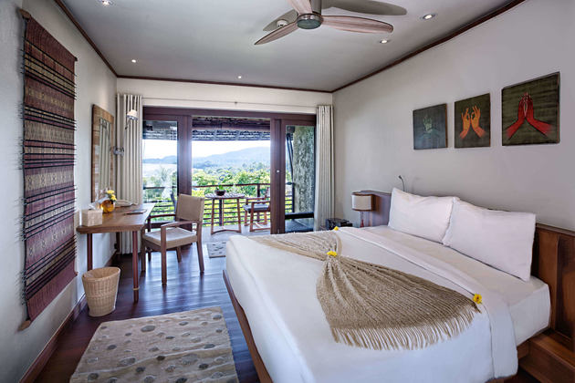 Hillside Sea View Room at kamalaya resort koh samui thailand