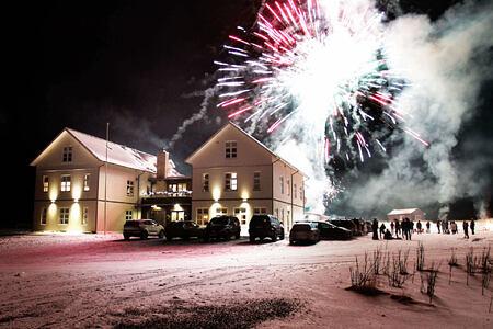 fireworks at Hotel Budir