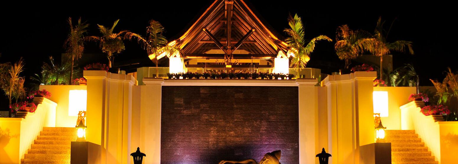 Entrance at shanti som hotel spain