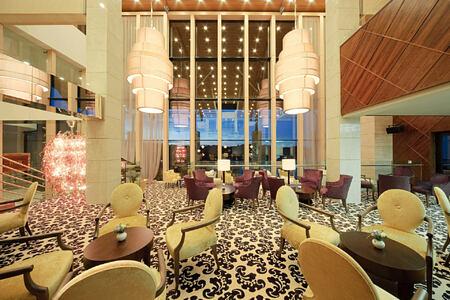 lobby at Hotel Monte Mulini croatia