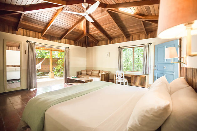 bedroom at harmony hotel costa rica