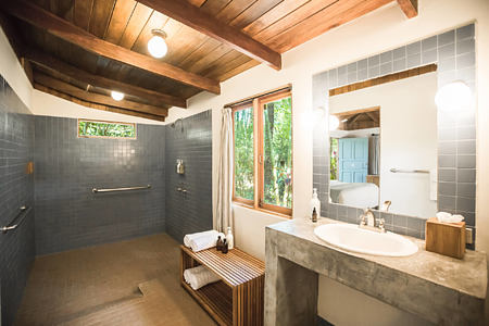 bathroom at harmony hotel costa rica