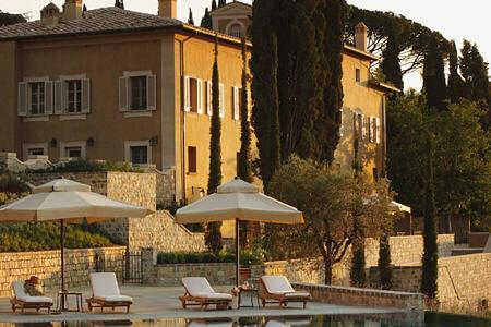 pool at Castiglion del Bosco