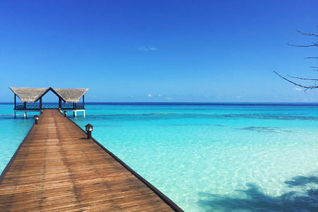 beach path at palm beach resort and spa maldives