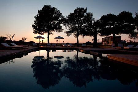 sunset at font santa hotel mallorca spain