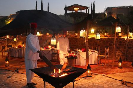 dining at la kasbah beldi morocco