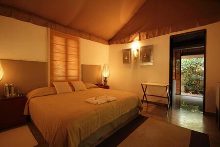 bedroom at shreyas hotel india