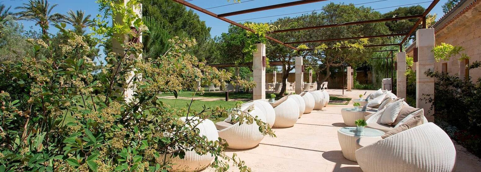 garden at font santa hotel mallorca spain