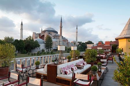 view at four seasons sultanahmet hotel turkey