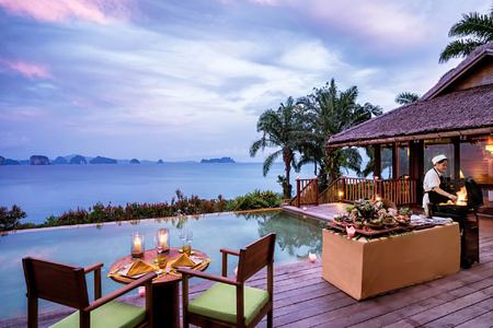 in villa barbecue with chef at six senses yao noi resort phuket thailand