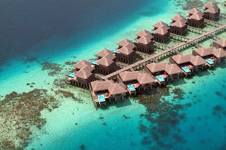 aerial view at coco palm bodu hithi resort maldives