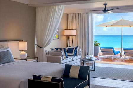 junior suite at fairmont royal pavilion hotel barbados