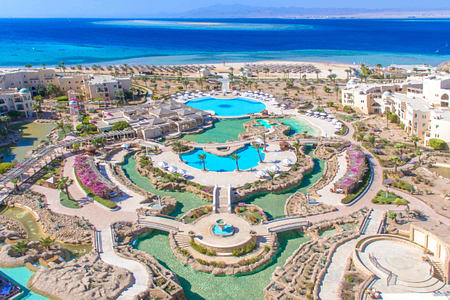 aerial view of kempinski soma bay resort egypt