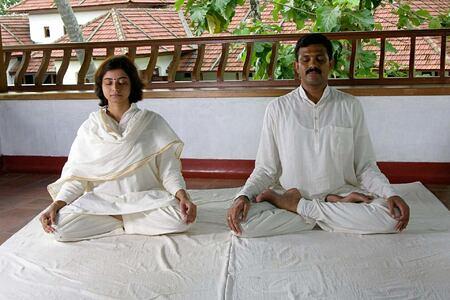 meditation at Kalari Kovilakom